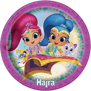 Personalised Shimmer & Shine edible printed  icing Round Cake Topper Pre-Cut