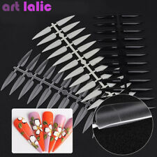 100 Nail Art Full Cover Oval Sharp End Stiletto Long False Nails Tips Manicure