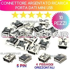 10 PEZZI CONNETTORE  RICARICA JACK MINI USB per Tom Tom One XL GPS