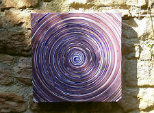 "THOMAS VISALIUS: "" Ultra Violet "" UNICO Dipinto Acrilico tela 60x60cm"