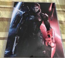 "Mass Effect - FemShep Renegade / Paragon 8"" x 10"" Print with Top Loader"