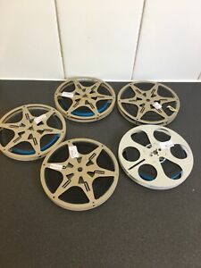 5 Vintage Movie Reels, with FILM 200 ft.Reel with 8 MM, Kodascope,E.K.Co.1930