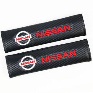 Carbon Fiber Car Seat Belt Cover Shoulder Cushion Pads For NISSAN Comfort Pads