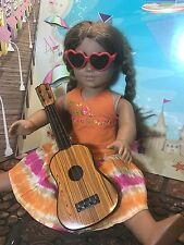 American Girl 18 In Doll Pretend Play Acoustic Guitar Dark Wood Plastic