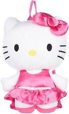 "Licensed Girls Plush Backpack - Hello Kitty - Satin Pink Dress 15"""