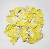 Gelber Natur Brucit Anhänger -- mit Silber  -- Edelstein aus Afghanistan -- TOP