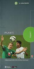 Programm 2008/09 VfL Wolfsburg - Eintracht Frankfurt