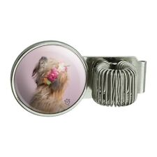 Soft Coated Wheaten Terrier Dog Flowers Pen Holder Clip for Planner Journal Book