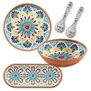 Epicurean Rio Medallion 4 Piece Outdoor/BBQ–Plastic/Melamine Dining Serving Set