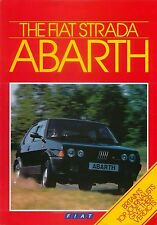 Fiat Strada Abarth 130 TC 1984-85 original UK Sales Brochure