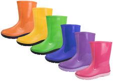 Boys Girls Wellington Boots Kids Rain Snow Boots Warm Winter Wellies Shoes Size