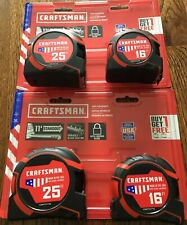 NEW CRAFTSMAN PRO-11 4-Pack 16-ft & 25-ft Auto Lock Tape Measure NEW