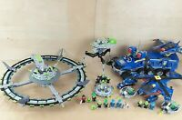 4 x LEGO ALIEN CONQUEST BUNDLE EARTH DEFENCE HQ 7066 7067 7051 7065 MOTHERSHIP
