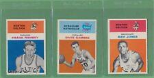 3 Card Lot ~ 1961 Fleer Frank Ramsey Gambee Sam Jones ~ CENTERED HIGH GRADE