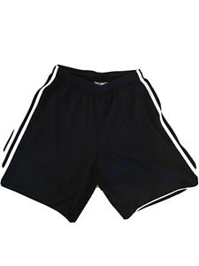 Size M Adidas Polyester Soccer Shorts Black With Drawstrings