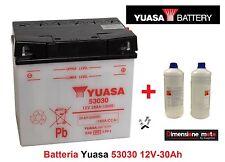 Batteria YUASA 53030 12V 30Ah + Acido per Moto Guzzi California 1100 Titanium