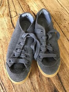 adidas stella mccartney grey textile wool ? sneaker shoes small 40 Mc Cartney
