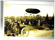 Early Dirigible Zeppelin Airship Exhibition Photo Print Excellent Condition