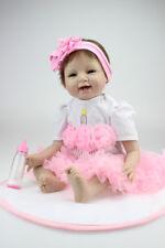 "22"" Handmade Reborn Baby Doll Silicone Realistic Newborn Girl Dolls"