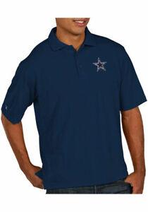 Dallas Cowboys Pique Xtra Lite Navy Golf Shirt,  Large