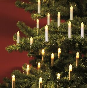 TrendLine LED Kerzenlichterkette 30 Kerzen Weihnachtsbaumkerzen Baumkerzen