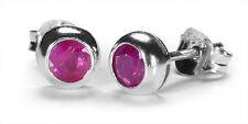Sterling Silver Ruby Fine Earrings