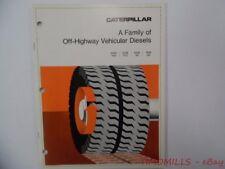 Caterpillar A Family of Off-Highway Diesels V16 V12 V8 I6 Catalog Brochure