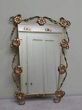 Elegant Mid Century French Gilt Console Hall Bedroom Side Table Mirror