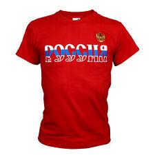 T-shirt rouge, blanc, bleu, T-shirt  l'aigle bicéphale et l'inscription RUSSIE