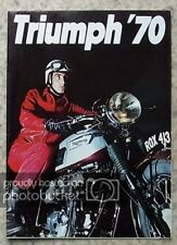 TRIUMPH MOTORCYCLES RANGE Sales Brochure 1970 Trophy Sports BONNEVILLE Tiger 100