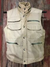 Mens multi pocket poly filled vest hunting fishing hiking photographer size S