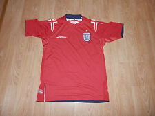 Maillot Football Equipe Angleterre England Umbro Rouge Taille 14 ans Saison 2004