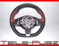 Abarth 500 595 Fiat 500 MFL Lenkrad Lederlenkrad Braun Steering Wheel NEU