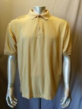 Ping Collection Men's Size Large Yellow Cotton Short Sleeve Pique Polo Shirt