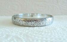 BRIGHTON Engraved Design Bangle Bracelet, Silver In Color