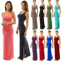 Fashion Womens Sexy Vest Bodycon Slit Dresses Ladies Summer Casual Bag Hip Dress