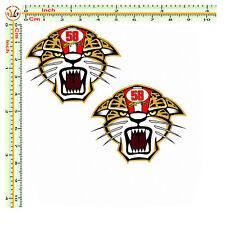Adesivi marco simoncelli tigre sticker moto casco helmet stampa su pvc 2 pz.