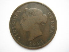 More details for cyprus 1891 bronze half piastre f distorted flan