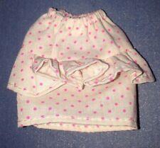 1989 Trendy Teen Fashions Skipper #8152 White & Pink Polka Dot Ruffle Skirt