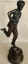 """Unique Maitland Smith Bronze Statuette """"Playing Soccer / Football"""". Vintage"""