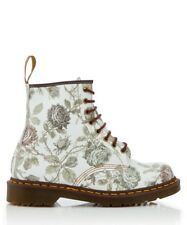 Dr. Martens Women's 1460 grey floral leather lace-up boots. Size  UK 9