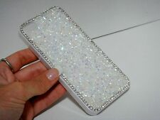 White Clear Frame Made with Swarovski Crystals Diamond Case Cover Skin iPhone 4S