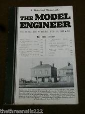 MODEL ENGINEER # 2181 - MOTORIZED MICRO LATHE - FEB 25 1943