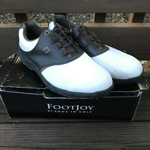 FootJoy GreenJoys Mens Lace Up Low Top Golf Shoes White Brown 45521 FJ 11.5 W