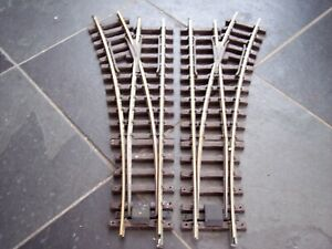 LGB 1605/1615 G SCALE MODEL RAILWAY BRASS TRACK R3 MANUAL POINTS