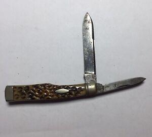 "Challenge Reg U.S. Pat.o Pocket Knife With Two Blades 5.25"""
