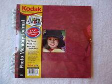 """Kodak Photo Memory Journal """"8 X 8"""" Book """" NIP """" GREAT FOR SCRAPBOOKING """" RED """""""