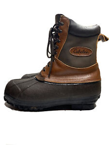 Cabela's Brown nsulated Winter Snow Boots Mens Size 12
