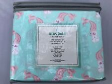 Kids Rule 3 Piece Twin Sheet Set Mermaid Printed NEW NIP
