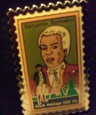Sale!!! Genuine Original U.S.P.S. Benjamin Banneker Black Heritage Stamp Pins